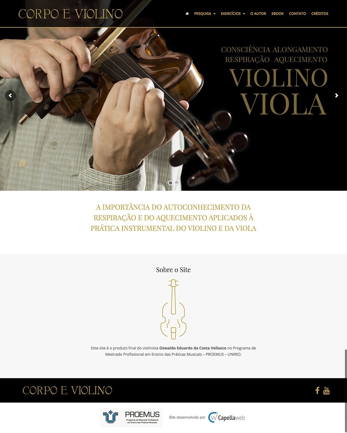 Capellaweb - Sites - Corpo e Violino