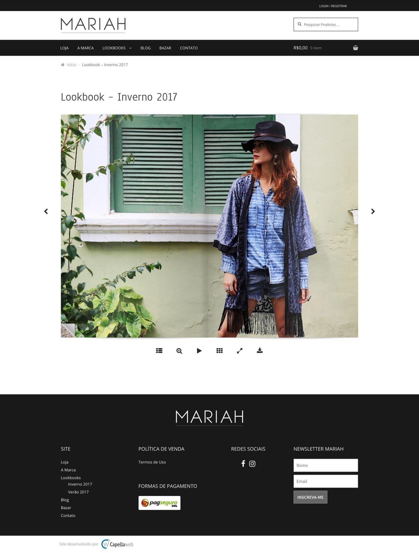 Capellaweb - Sites - Mariah - Livreto Virtual da Coleção