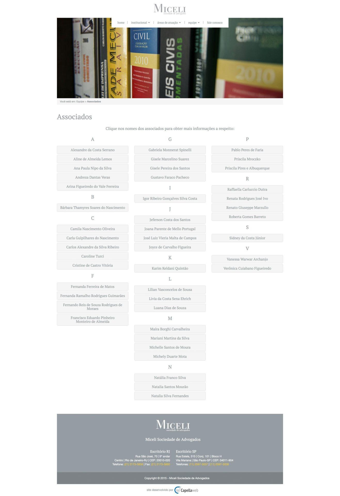 Capellaweb - Sites - Miceli Advogados Associados